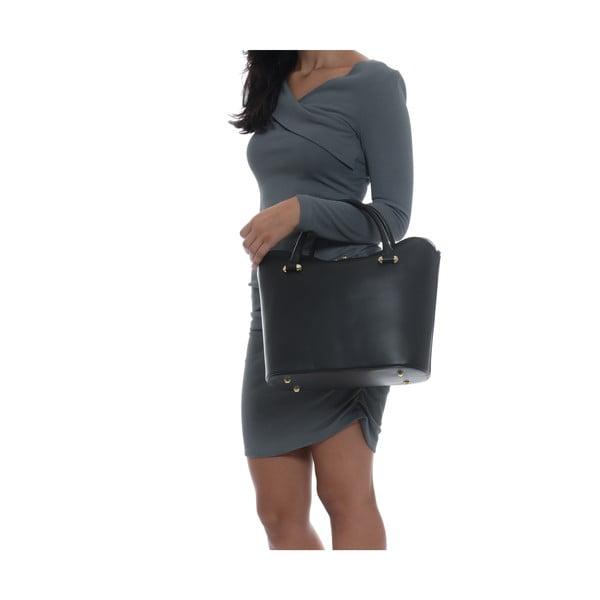 Černá kožená kabelka Isabella Rhea no. 396