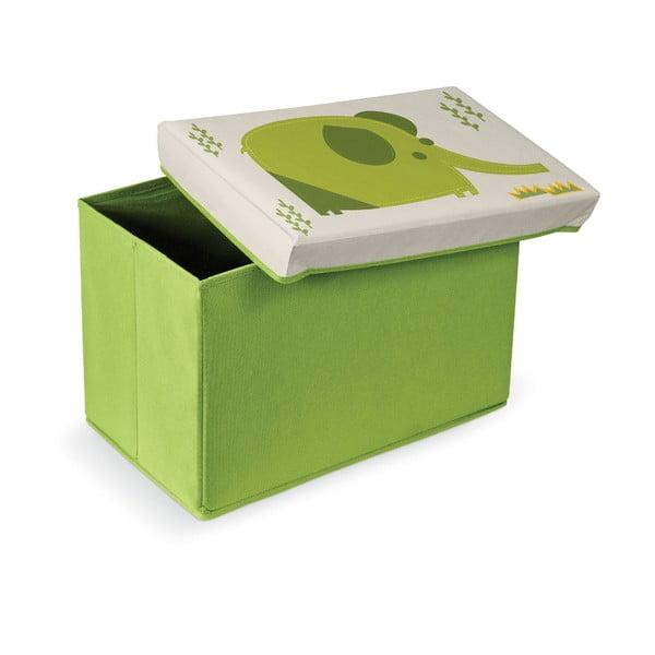 Zelená podnožka s úložným prostorem Domopak Elephant
