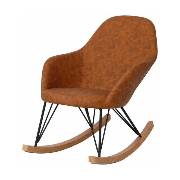 Brązowe krzesło bujane Støraa Tamara