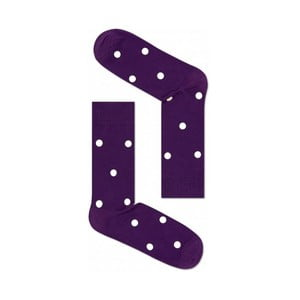Ponožky Happy Socks Purple Dots, vel. 41-46