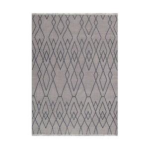 Modrohnědý vlněný koberec Linie Design Omo,140x200cm