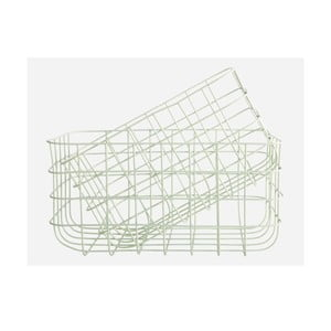 Set dvou košíků Simply, green, větší