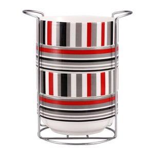 Set misek Red Stripes se stojanem, 5 ks