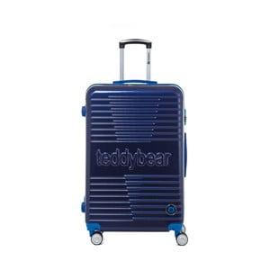 Tmavě modrý cestovní kufr na kolečkách Teddy Bear Monica, 107 l