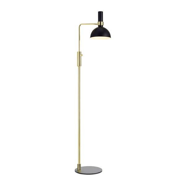 Czarno-złota lampa stojąca Markslöjd Larry