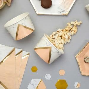 Set 8 cupe din hârtie pentru dulciuri Neviti Gold Colour Block Marble