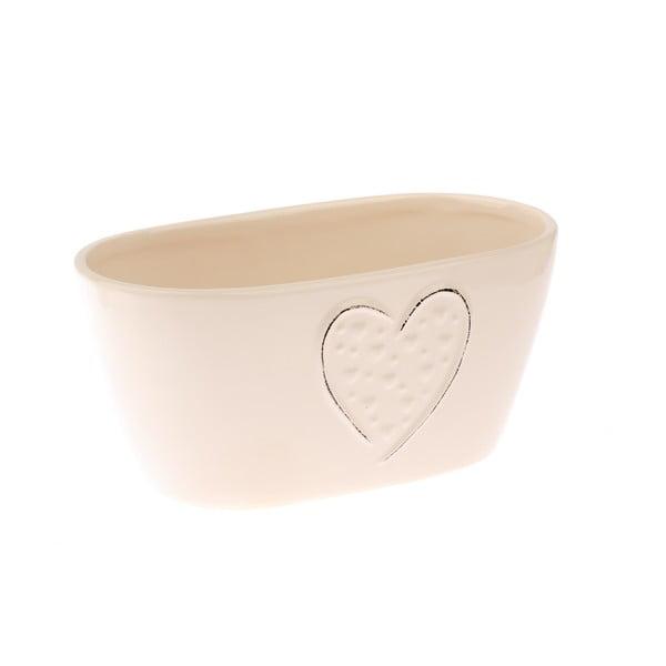 Ghiveci din ceramică Dakls, crem