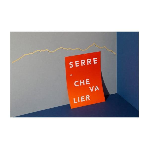 Pozlacená nástěnná dekorace se siluetou města The Line Serre Chevalier
