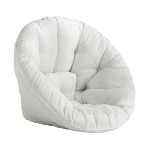 Fotoliu extensibil potrivit pentru exterior Karup Design Design OUT™ Nido White, alb