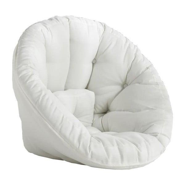 Fotoliu extensibil adecvat pentru exterior Karup Design Design OUT™ Nido White, alb