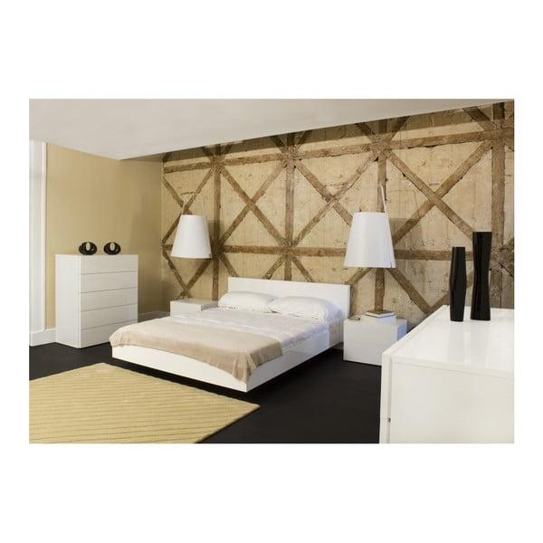 Bílá postel TemaHome Float, 160x200cm
