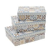 Sada 3 hranatých krabic InArt Boho Therese