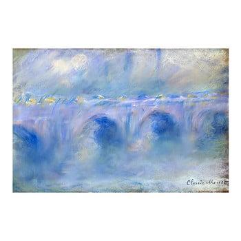 Reproducere pe pânză după Claude Monet - Le Pont de Waterloo, 90 x 60 cm