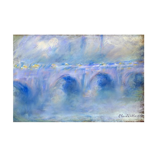 Tablou Claude Monet - Le Pont de Waterloo, 90x60 cm