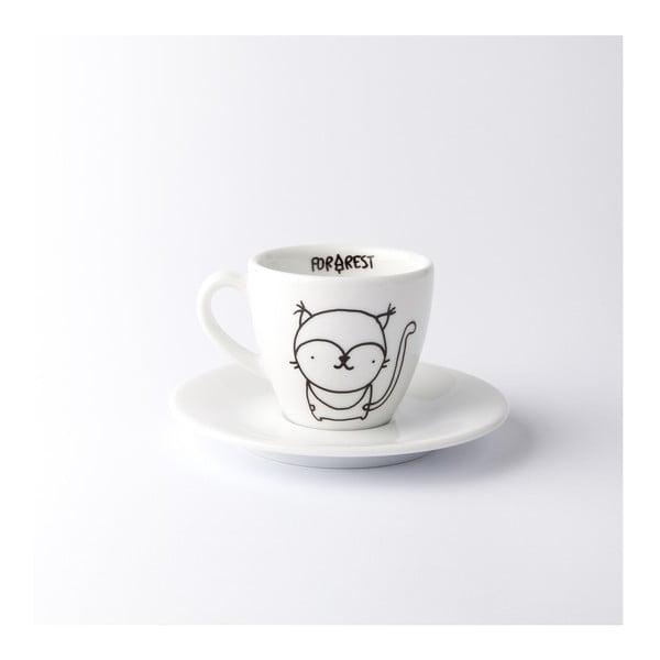 Hrnek na espresso s podšálkem Lynx, 100 ml