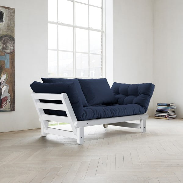 Sofa Beat, bílá/tmavě modrá