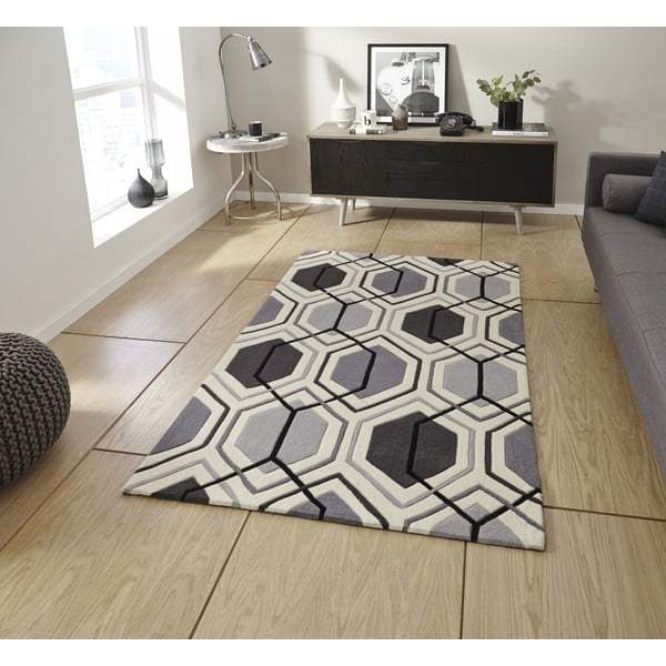 Koberec Flat 90x150 cm, šedý