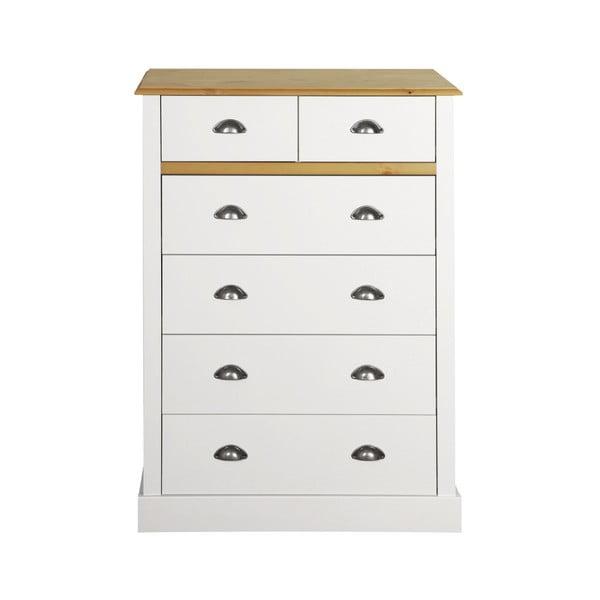 Comodă Steens Sandringham, 107 x 78 cm, alb - crem