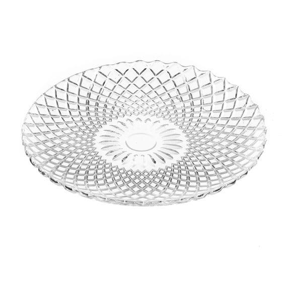 Skleněný talíř Unimasa Harlequin, průměr15,5cm