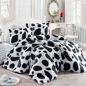 Lenjerie de pat cu cearşaf Milk, 200 x 220 cm