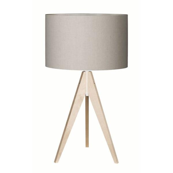 Šedá stolní lampa Artist, bříza, Ø 33 cm