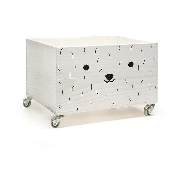 Dřevěná krabice na kolečkách Little Nice Things Pet