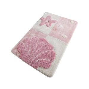 Růžová koupelnová předložka Confetti Bathmats Starfish Pink, 60 x 100 cm