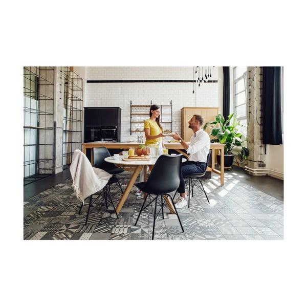Bílá židle s bílým podnožím z kovu loomi.design Eco
