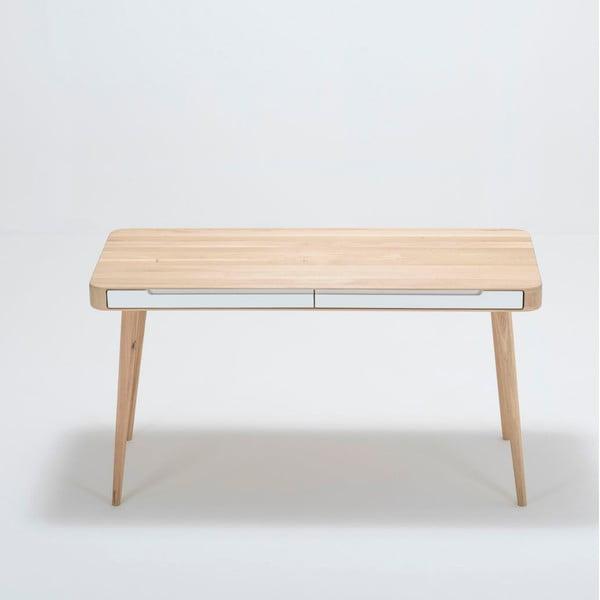 Pracovní stůl z dubového dřeva Gazzda Ena, 140x60x75cm
