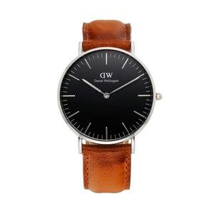 Unisex hodinky s hnědým páskem Daniel Wellington Durham Silver, ⌀36mm