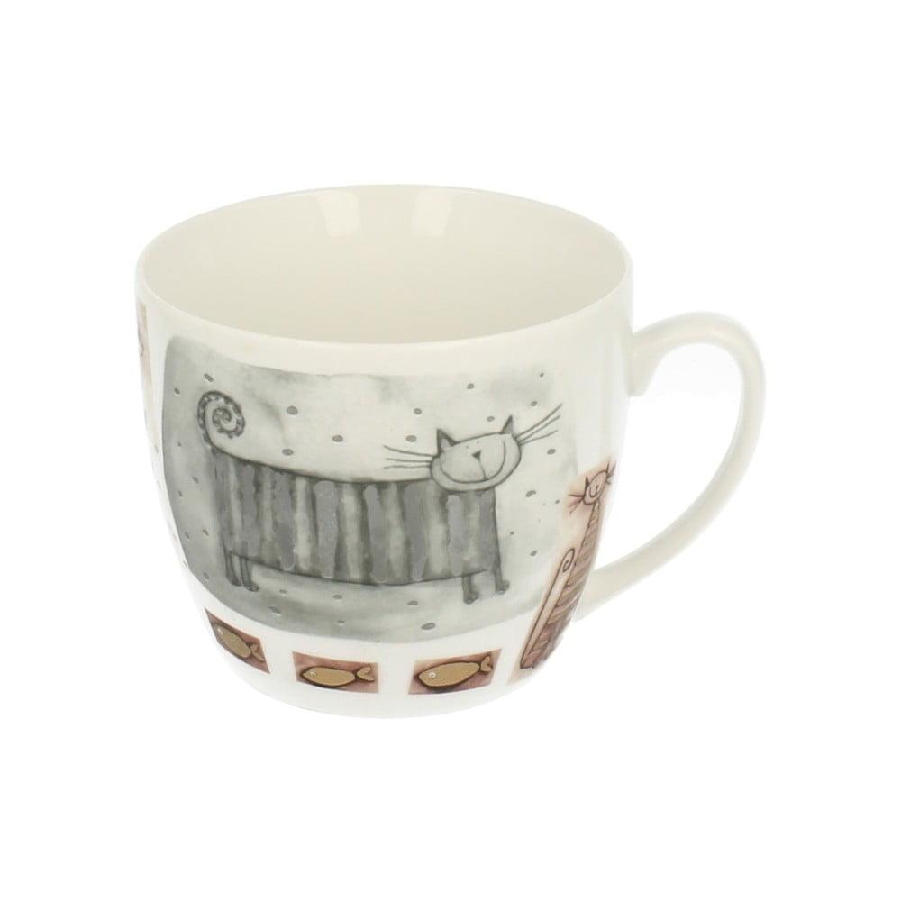 Porcelánový hrnek s motivem kočky Duo Gift, 700 ml