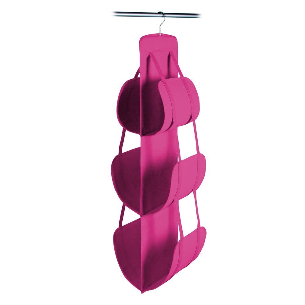 Růžový závěsný úložný box na kabelky Jocca, 105 x 30 cm