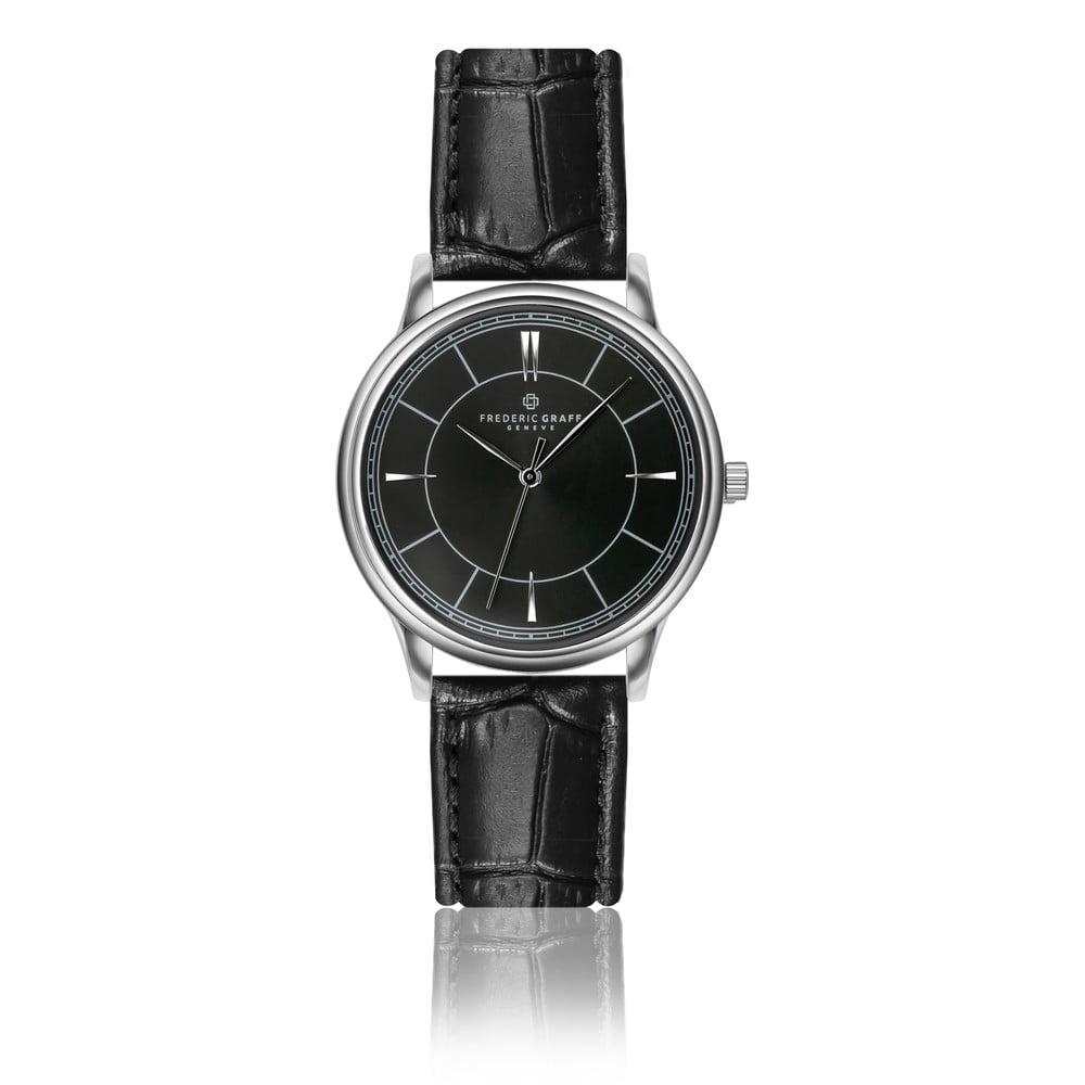 Unisex hodinky s černým páskem z pravé kůže Frederic Graff Makalu