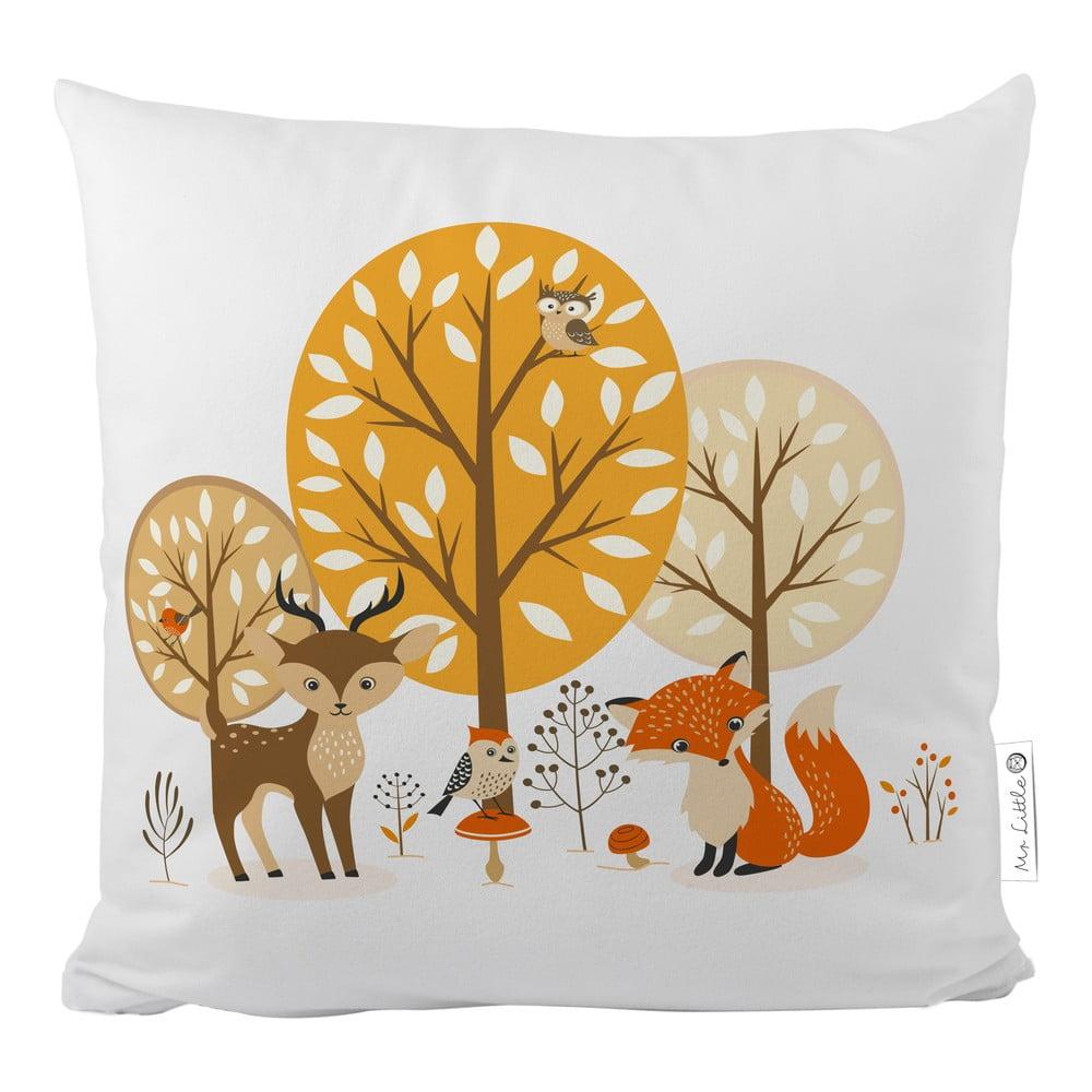 Povlak na polštář z bavlněného saténu Mr. Little Fox Forest Friends, 50x50cm