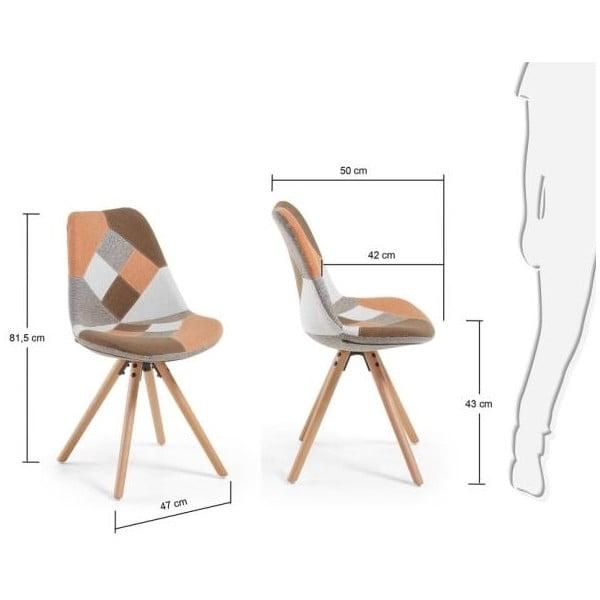 Židle Lars, hnědavá