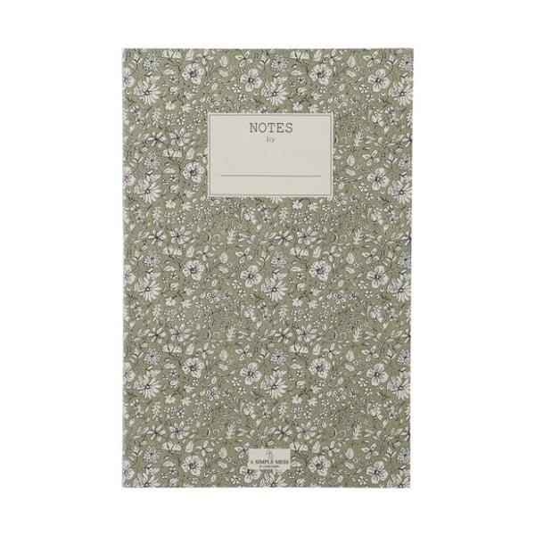Zápisník A Simple Mess Nynne Khaki, 21x14cm