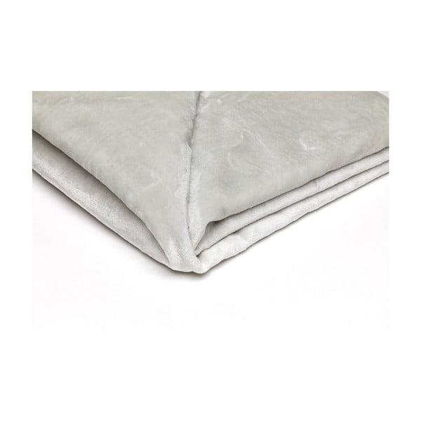 Světle šedá mikroplyšová deka My House, 150x200cm