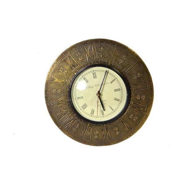 Nástěnné hodiny z tepaného kovu Tripura, 29 cm