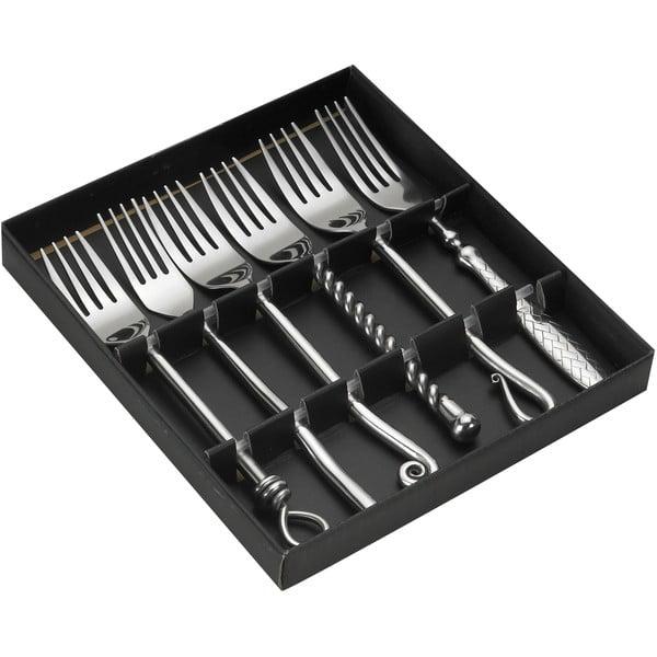 Set 6 furculițe din inox, în cutie de cadou Jean Dubost Forged