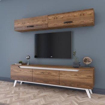 Set comodă Tv și 2 dulapuri de perete Wren Natural, natural imagine