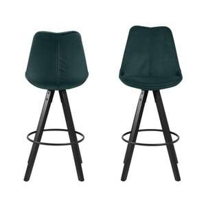 Sada 2 zelených barových židlí Actona Dima