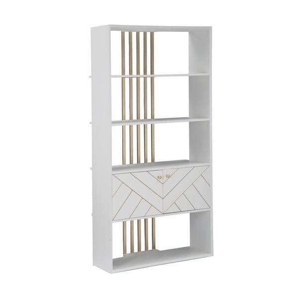 Bibliotecă Mauro Ferretti Luxy, înălțime 182cm, alb