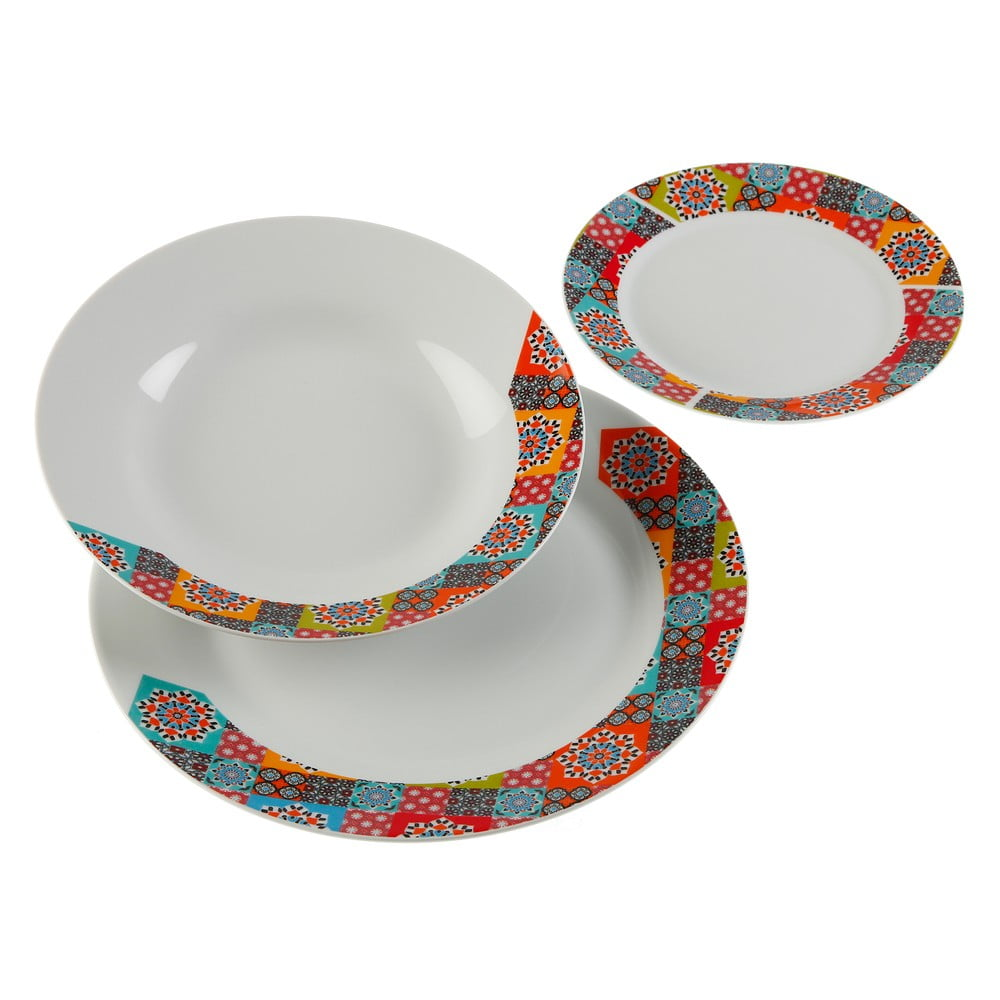 18dílná sada porcelánových talířů Versa Topkapi VERSA