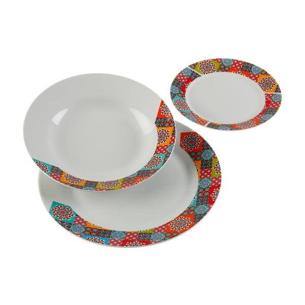 18-częściowy zestaw talerzy porcelanowych Versa Topkapi