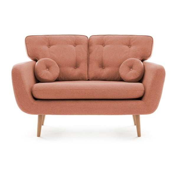 Canapea cu 2 locuri Vivonia Malva, piersică