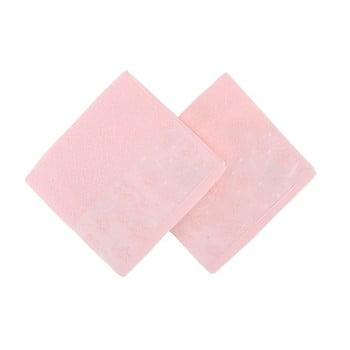 Set 2 prosoape din bumbac pur Mariana, 50 x 90 cm, roz deschis de la Soft Kiss