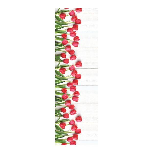 Vysoce odolný běhoun Webtappeti Tulipani, 58x240cm