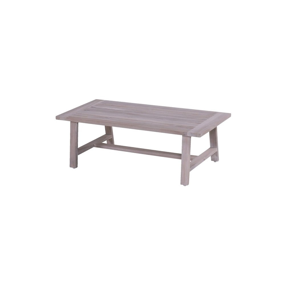 Šedý zahradní stůl z teakového dřeva Hartman Boa Vista, 120 x 60 cm