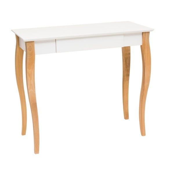 Biely písací stôl Ragaba Lillo,dĺžka 85cm