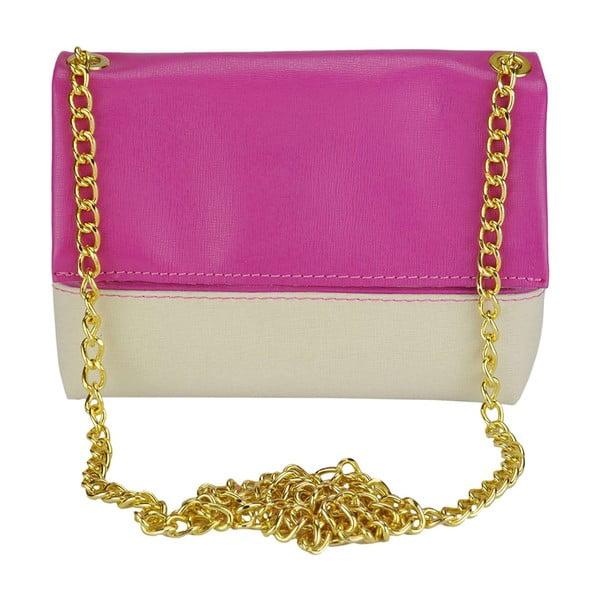 Kožená kabelka Eva Beige & Purple
